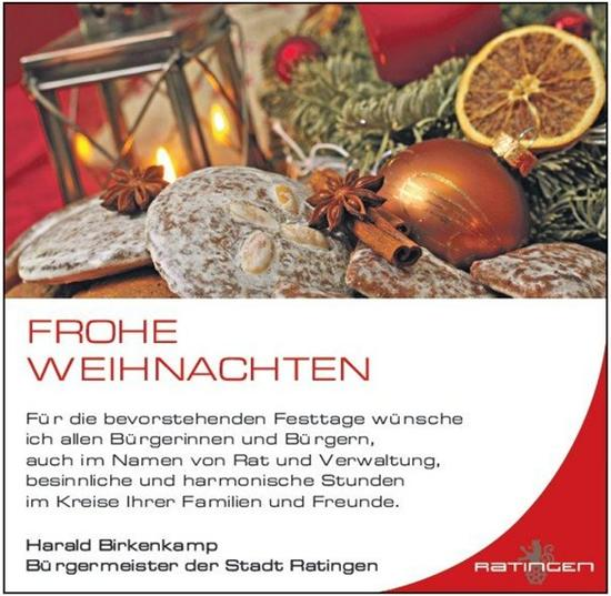Bürgermeister Harald Birkenkamp´s Weihnachtsgruß 2013 - Bürger-Union ...